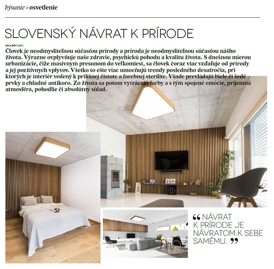 Slovenský návrat k prírode - exkluzívne drevené svietidlá vyrobené na Slovensku